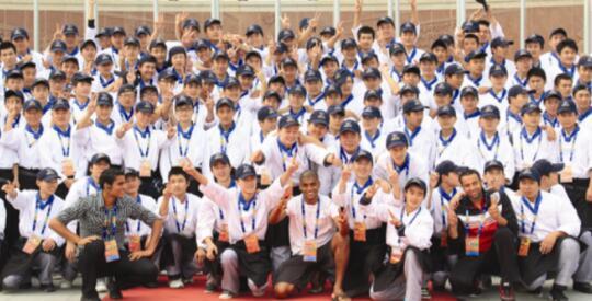2012年6月,山东蓝翔260名烹饪专业学生赴山东海阳参加第三届亚洲沙滩运动会餐饮工作